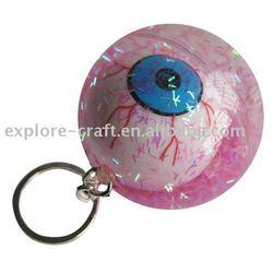 key chian glitters bounce ball