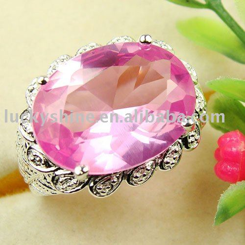 pink gemstone rings. pink kunzite gemstone ring