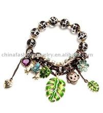 Newest Leopard Beads Charm Bracelet