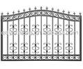 Decorativa de metal portões de jardim