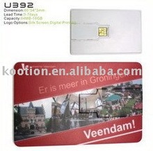 1 to 16GB Promotional Plastic ABS Credit Card USB Memory Stick with FCC/CE/RoHS Approvals