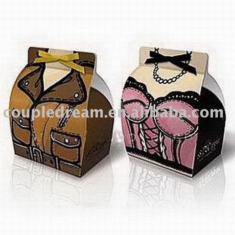 See larger image Dress Pattern Wedding Favor Box