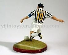 football player plasitc action figure