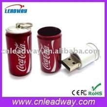 lifelike Cola can keyring USB disk