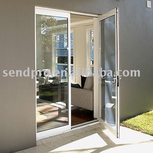 Puerta abatible de aluminio para balc n patio - Puertas para porches ...