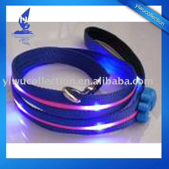Led flash leash,super bright led pet lea