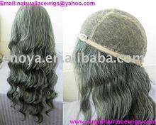 GREY HAIR GLUELESS WIG