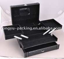 Multi-function wooden jewelry case