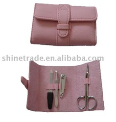 4pcs folded manicure set with PU pouch