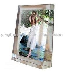 Sculptural Crystal Photo Frame