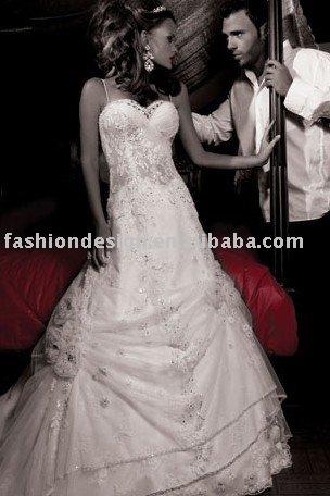 AWD151 2011 custom made lace Lebanon wedding dress