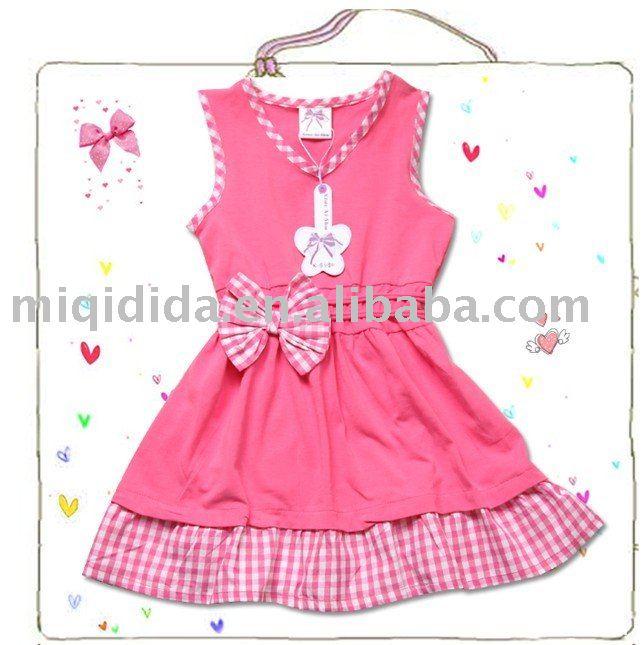 Linda rosa , vestidos de los cabritos / 3-10 años de edad