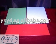 self-luminous PVC plate/photoluminescent PVC sheet/glow in dark PVC sheet