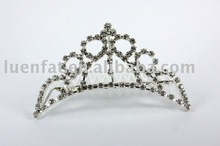 competitive price crown hair clips,rhinestone hair clips