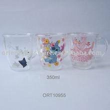 12oz 350ml drinking glass mug
