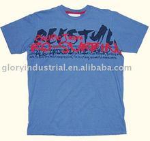 Fashion 200g/m2 Round neck and printed t shirt