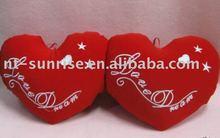 Heart shaped red sofa cushion