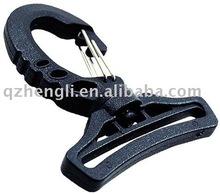 Plastic swivel double metal spring clip snap dog hook (HL-B017)