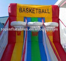 Inflatable shot goal
