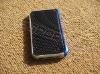 Aluminum real carbon fiber bumper Case for iphone 4 4G