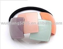 elegant acrylic hair clip rubber elastic hair band for 2015