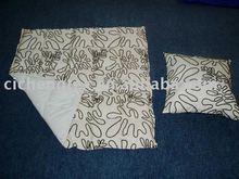 silk flocking quilt throw