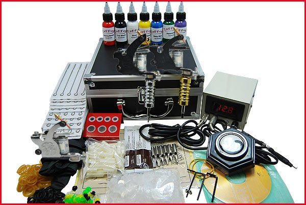 Wholesale Starter Tattoo Kit 6 Machine Power Grip Tip Needle Ink