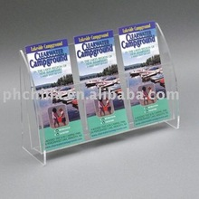 JLL-039 Shining Perspex Brochure Holder Pockets