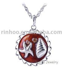 Seashell theme alloy necklace