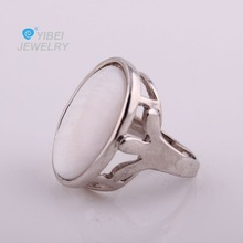 copper tone shell compliant custome jewelry ring