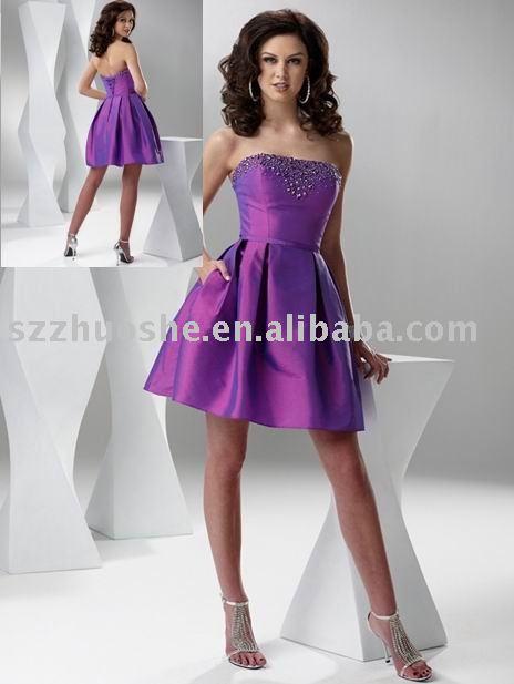 short purple prom dress 2011 WZ1677