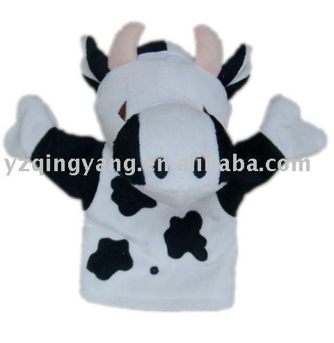 vaca de pelúcia fantoches de mão com preço competitivo