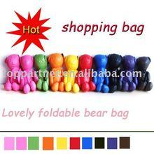 bear polyester foldable shopping bag(item no:YH145N)