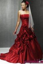 2011 new style modern blackless Ruffle satin modern wedding dress