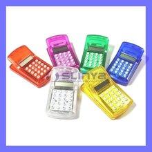 12 Custom Color Plastic novelty gift Mini clip calculator