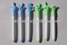 gesture shaped ball pen