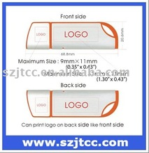 Single Side Rounded Colorful Edge USB Flash Drive, 128MB Memory, USB Flash Drive Custom Logo