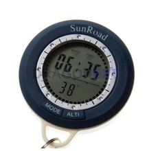 2015 Hot item 6 in 1 Multifunction Compass Watch For Hiking Digital Altimeter With ThermometerMountain Biking