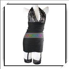 Black Teddy Corset Women Sexy Lingerie Garter