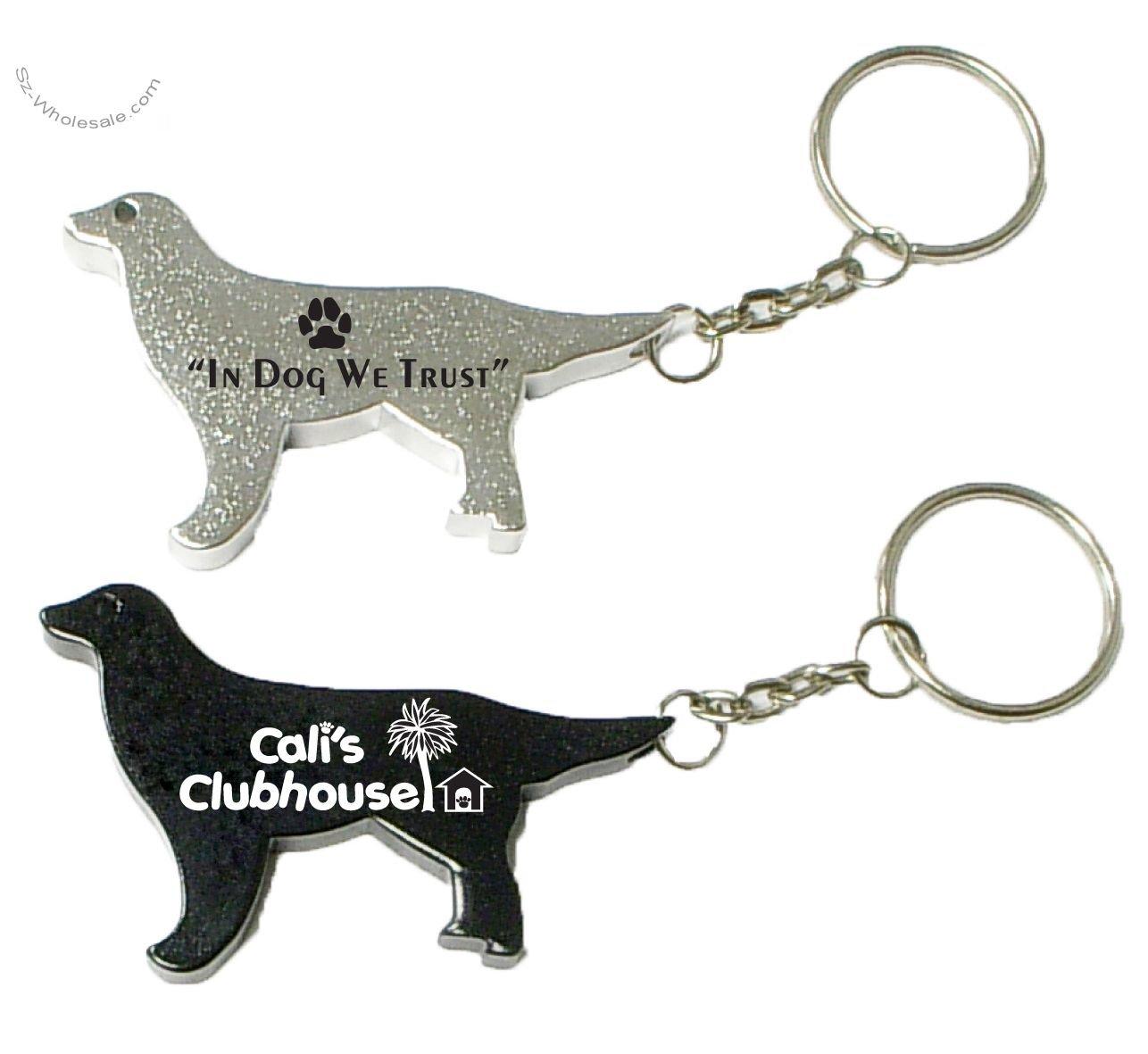 dog shape key chain bottle opener
