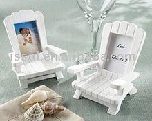 "Wedding favors ""Beach Memories"" Miniature Adirondack Chair Place Card/Photo Frame"