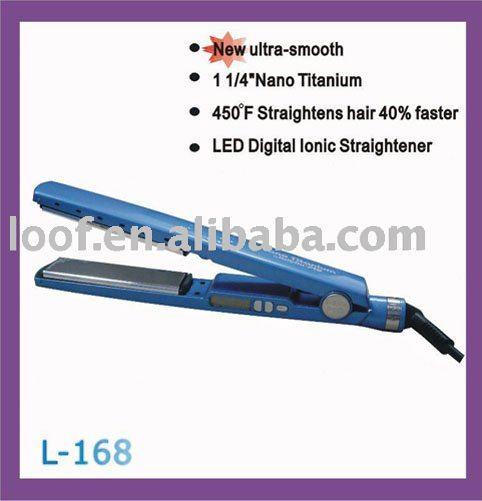 450F placa de titânio ferro do cabelo digital