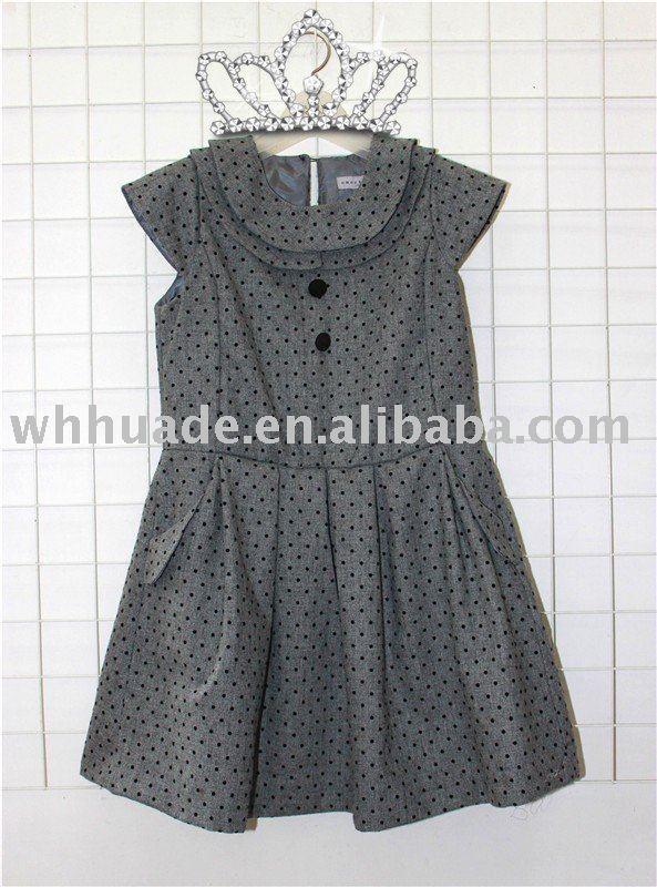 kids fashion woolen dress in sleeveless