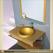 italian design furniture (glass vanity)