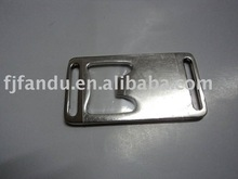Metal and plastic bag insert buckle