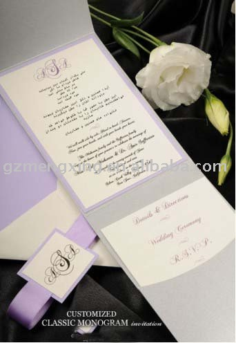 See larger image Wallet Wedding Invitation With MonogramPA233