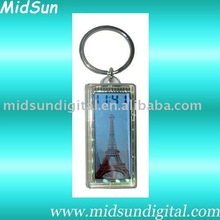 solar flashing key chain with clock