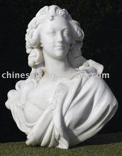 buste en marbre sculpté