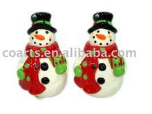 ceramic snowman S+P Set