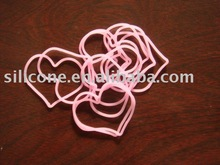 Hot sell/Fashion/Promotion/Heart Shape Silicone Rubber Band